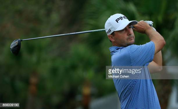 Rob Oppenheim hits his drive on the 18th hole during the third round of the Webcom Tour Championship held at Atlantic Beach Country Club on September...