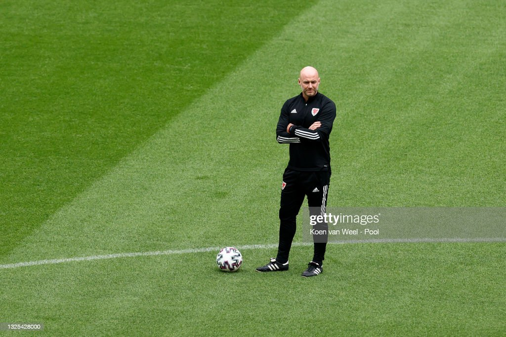 Wales Training Session and Press Conference - UEFA Euro 2020: Round of 16 : News Photo