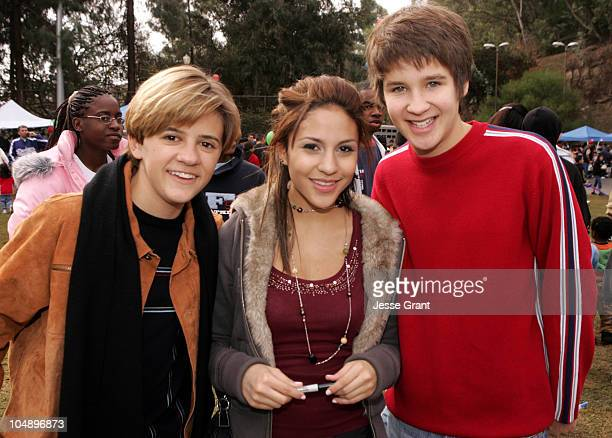 Rob Pinkston Kristin Herrera Devon Werkheiser during LAPD 2005 Holiday Toy Giveaway at LAPD Police Academy in Los Angeles California United States