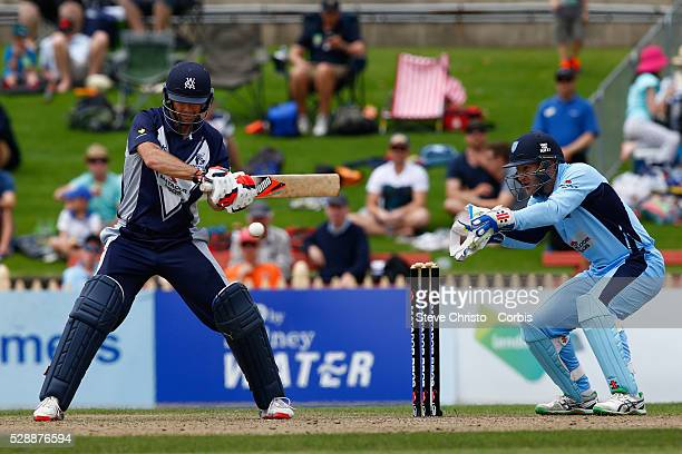 Rob Quiney of the Bushrangers batting against the Blues during the Matador BBQ's OneDay Cup between New South Wales Blues and Victorian Bushrangers...