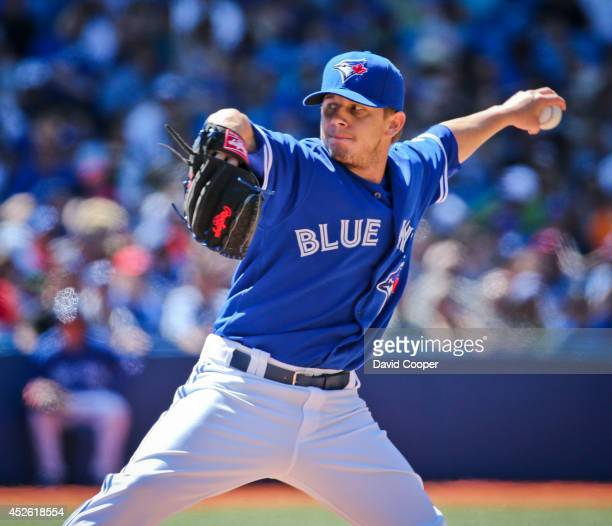 Rob Rasmussen of the Toronto Blue Jays pitched the 9th inning for the Jays.Toronto Blue Jays defeated the Boston Red Sox 8-0 at the Rogers Centre...