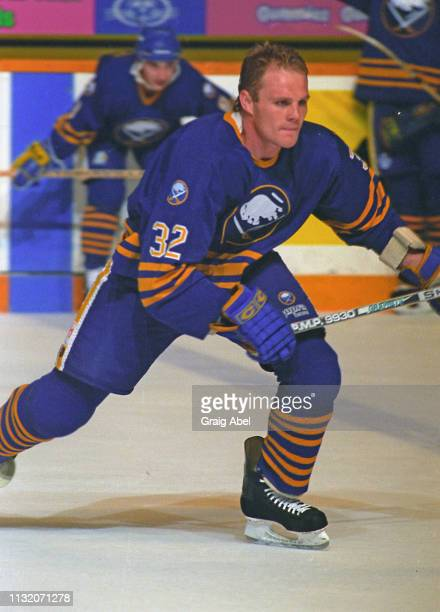 Rob Ray of the Buffalo Sabres skates against the Toronto Maple Leafs during NHL preseason game action on September 17 1994 at Maple Leaf Gardens in...