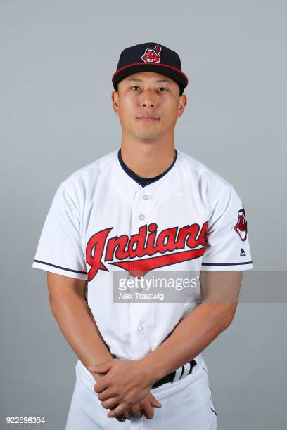 Rob Refsnyder of the Cleveland Indians poses during Photo Day on Wednesday February 21 2018 at Goodyear Ballpark in Goodyear Arizona