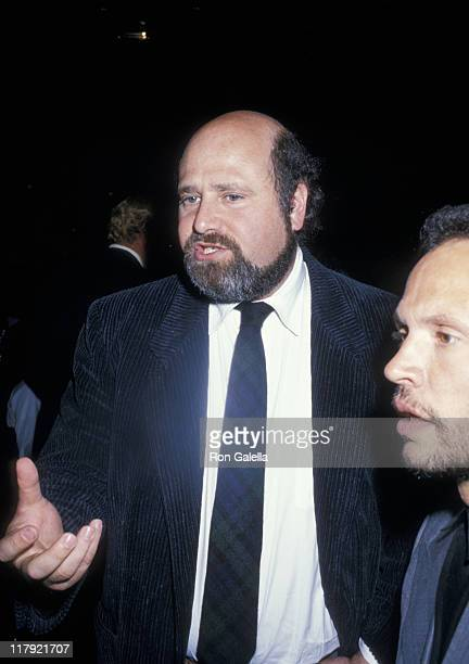 Rob Reiner and Billy Crystal during Mike Tyson vs Michael Spinks Fight at Trump Plaza June 27 1988 at Trump Plaza in Atlantic City New Jersey United...
