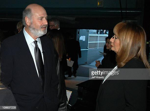 Rob Reiner and Penny Marshall during The TV Land Awards Backstage at Hollywood Palladium in Hollywood CA United States