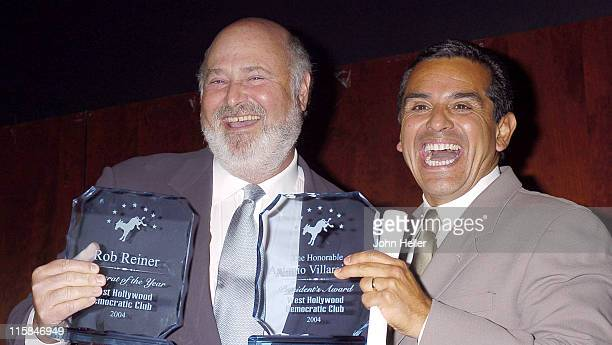 Rob Reiner, Democrat of the Year Award recipient and The Honorable Antonio Villaraigosa, Los Angeles City Council Member and Laurence Zakson...