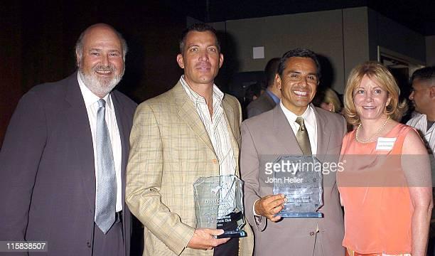 Rob Reiner, Democrat of the Year Award recipient, David Cooley, Bob Craig Humanitarian of the Year Award recipient, Antonio Villaraigosa, Los Angeles...