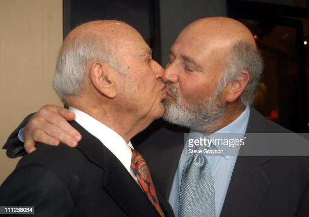 Rob Reiner greets his father Carl Reiner during A Night of Comedy to Benefit I AM YOUR CHILD Foundation at Hollywood Highland in Los Angeles...