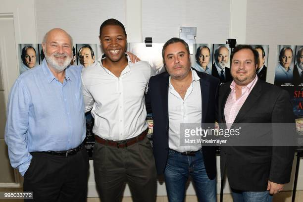 Rob Reiner Luke Tennie Matthew George and Christopher H Warner attend the premiere of Vertical Entertainment's Shock and Awe at The London West...