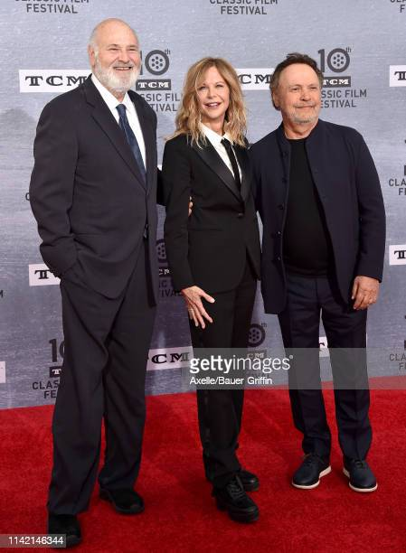 Rob Reiner, Meg Ryan and Billy Crystal attend the 2019 TCM Classic Film Festival Opening Night Gala and 30th Anniversary Screening of 'When Harry Met...