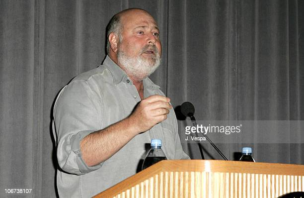 Rob Reiner speaks at the Palisades Pictures screening of Going Upriver The Long War of John Kerry to kick off its college tour and DVD release on Oct...