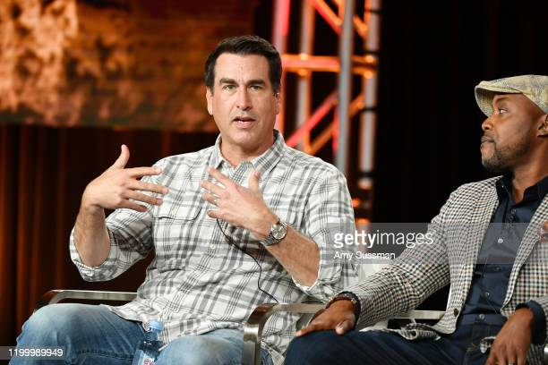 Rob Riggle and Will Packer of Rob Riggle Global Investigation speak during the Discovery Channel segment of the 2020 Winter TCA Press Tour at at The...