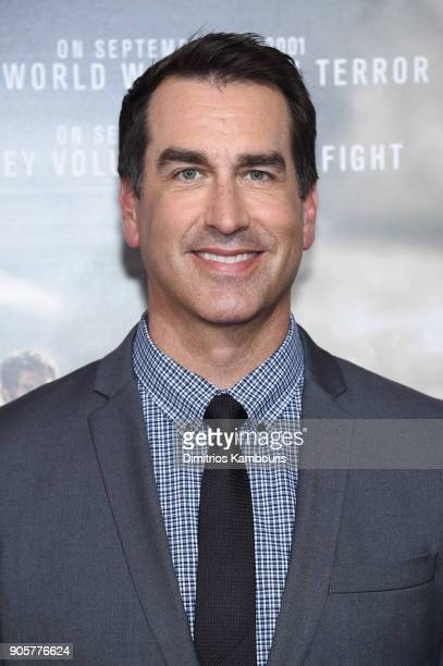 Rob Riggle attends the world premiere of '12 Strong' at Jazz at Lincoln Center on January 16 2018 in New York City