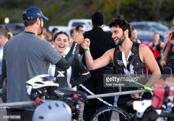 Rob Riggle Isabelle Fuhrman and Jack Falahee participate in the Nautica Malibu Triathlon presented by Bank Of America Merrill Lynch at Zuma Beach on...