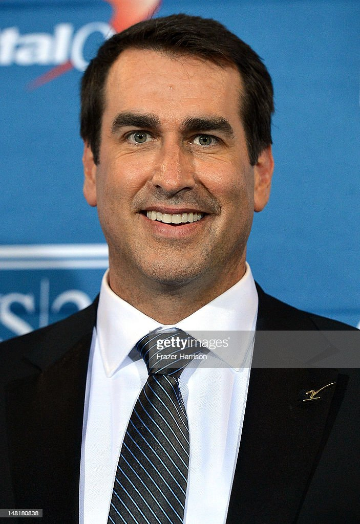 Rob Riggle poses in the press room during the 2012 ESPY Awards at Nokia Theatre L.A. Live on July 11, 2012 in Los Angeles, California.