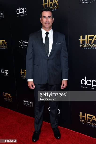 Rob Riggle poses in the press room during the 23rd Annual Hollywood Film Awards at The Beverly Hilton Hotel on November 03 2019 in Beverly Hills...