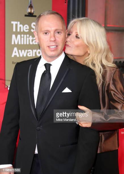 Rob Rinder and Gaby Roslin attend The Sun Military Awards 2020 at Banqueting House on February 6 2020 in London England