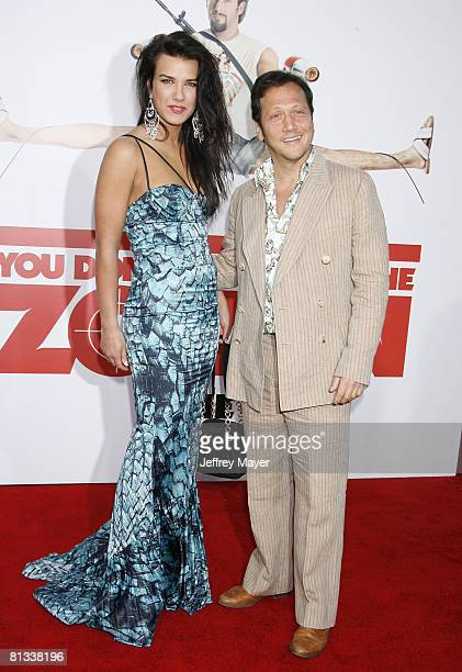 """Rob Schneider and Natalia Guslistaya arrive at Sony Pictures Premiere of """"You Don't Mess With the Zohan"""" on May 28, 2008 at Grauman's Chinese Theatre..."""