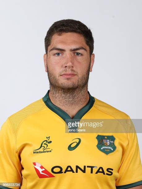 Rob Simmons poses during the Australian Wallabies headshot session on May 7 2018 in Gold Coast Australia