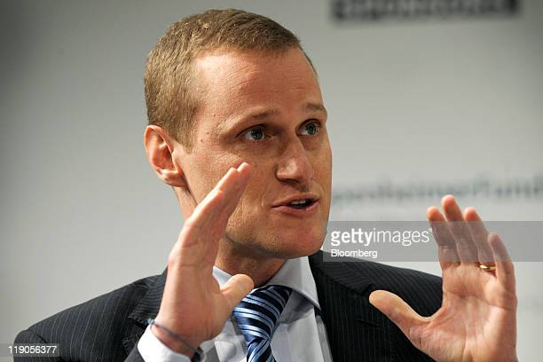 Rob Speyer president and cochief executive officer at Tishman Speyer Properties LP speaks at the Bloomberg via Getty Images Brazil Conference in New...
