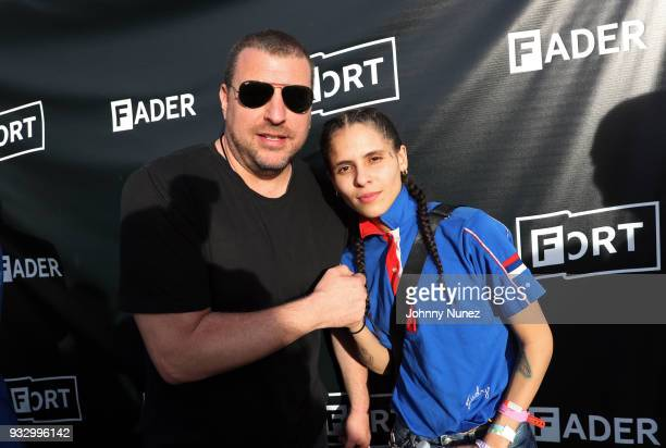 Rob Stone and 070 Shake attend The Fader Fort 2018 Day 3 on March 16 2018 in Austin Texas