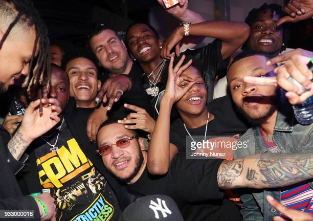 Rob Stone and King Combs pose with guests at The Fader Fort 2018 Day 3 on March 16 2018 in Austin Texas