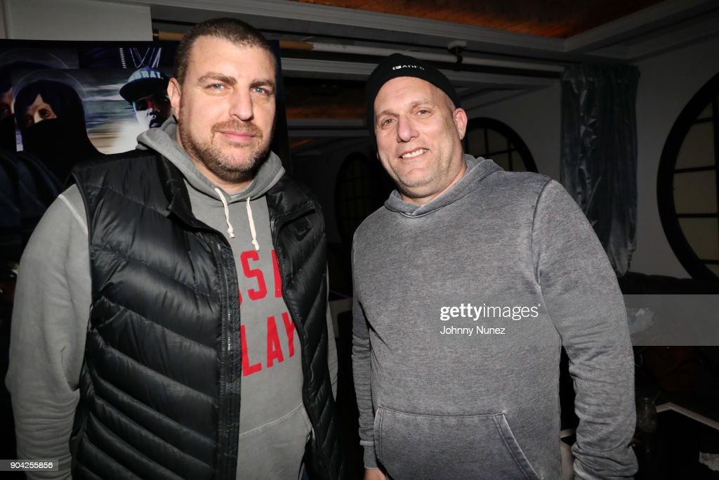 Rob Stone (L) and Steve Rifkind attend Axel Leon's Private Dinner Hosted By Steve Rifkind at Jimmy's on January 11, 2018 in New York City.
