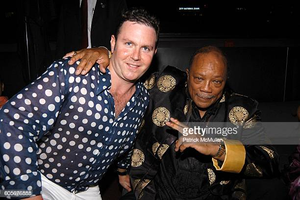 Rob Stricker and Quincy Jones attend Miss Universe Post Pageant VIP Party hosted by Chuck Nabit Dave Geller Ed St John Greg Barnhill Freddie Wyatt...