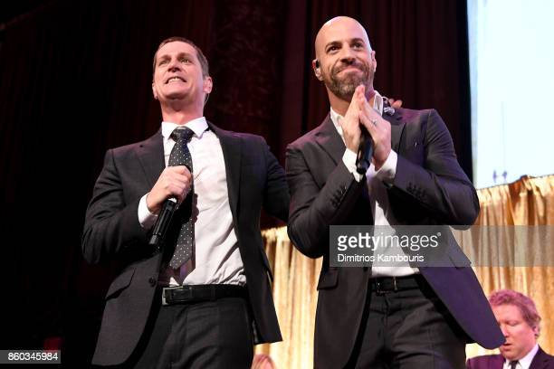 Rob Thomas and Chris Daughtry perform onstage at the Global Lyme Alliance third annual New York City Gala on October 11 2017 in New York City