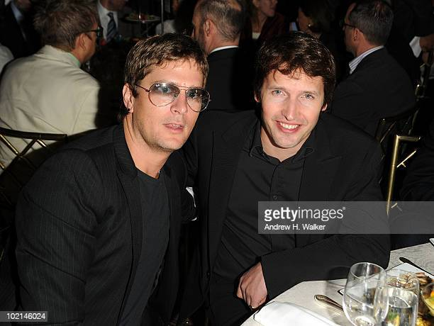 Rob Thomas and James Blunt attend the UJAFederation's 2010 Music Visionary of the Year award luncheon at The Pierre Ballroom on June 16 2010 in New...