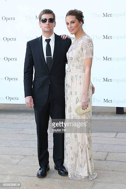 Rob Thomas and Marisol Thomas attend the season opening of The Marriage of Figaro at The Metropolitan Opera House on September 22 2014 in New York...