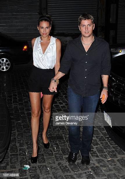 Rob Thomas and wife Marisol Maldonado on the streets of Manhattan on July 28 2010 in New York City