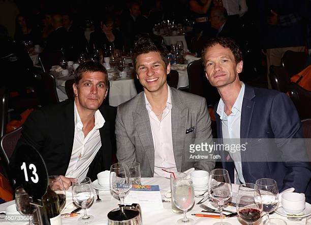 Rob Thomas David Burtka and Neil Patrick Harris attend the Trevor Project's 2014 'TrevorLIVE NY' Event at the Marriott Marquis Hotel on June 16 2014...