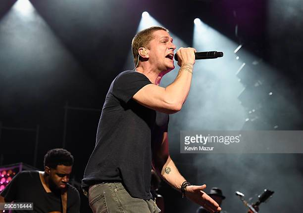 Rob Thomas peforms at the Amphitheater at Coney Island Boardwalk on August 16 2016 in New York City