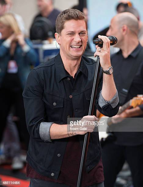 Rob Thomas performs on NBC's 'Today' at Rockefeller Plaza on August 24 2015 in New York City