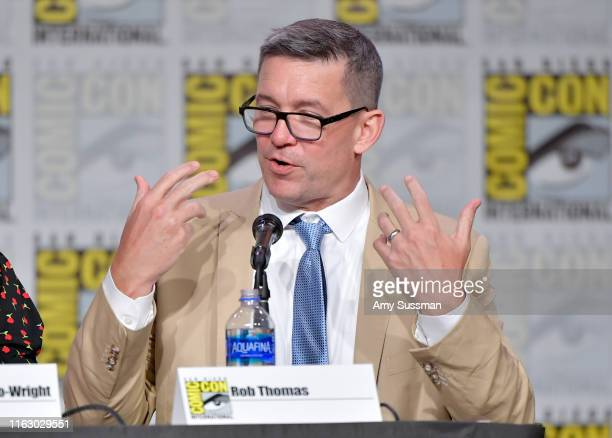 Rob Thomas speaks at the World Premiere Hulu's Veronica Mars Revival panel during 2019 ComicCon International at San Diego Convention Center on July...