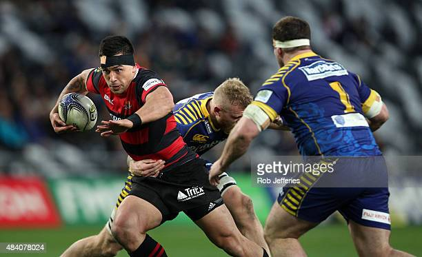 Rob Thompson of Canterbury on the charge during the round one ITM Cup match between Otago and Canterbury at Forsyth Barr Stadium on August 15, 2015...