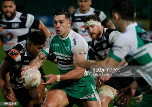 Rob Thompson of Manawatu during the round 1 Mitre 10 Cup match between Manawatu and Hawke's Bay at Central Energy Trust Arena on August 11 2019 in...
