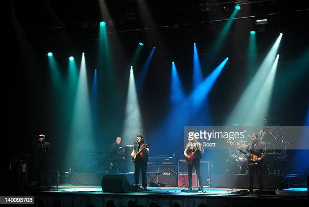 Rob Townsend Roger King Steve Hackett Amanda Lehman Lee Pomeroy and Gary O'Toole perform on stage at University Of East Anglia on February 27 2012 in...
