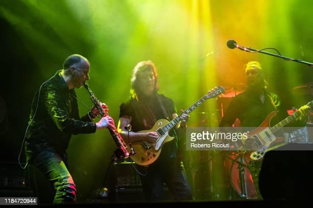 Rob Townsend Steve Hackett and Jonas Reingold perform at Usher Hall on November 25 2019 in Edinburgh Scotland