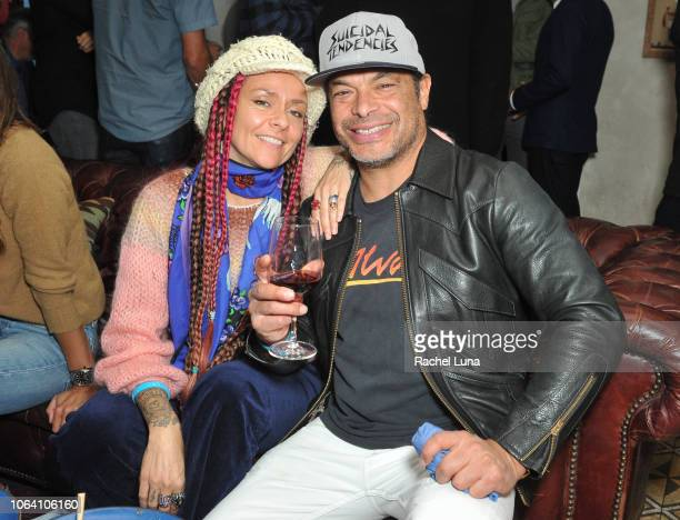 Rob Trujillo and his wife Chloe Trujillo attend HBO's Momentum Generation Premiere after party at The Bungalow on November 05 2018 in Santa Monica...