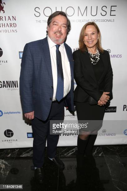 Rob Urban and Monica Serino attend PAGANINI HONORS PAGANINI A Tribute To Niccolo Paganini By Maria Elena Paganini on October 28 2019 in New York City