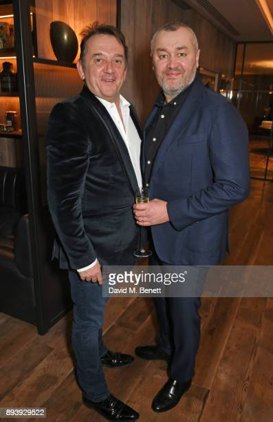 Rob van Helden and Sebastien Barbereau attend Alexander Dundas's 18th birthday party hosted by Lord and Lady Dundas on December 16 2017 in London...