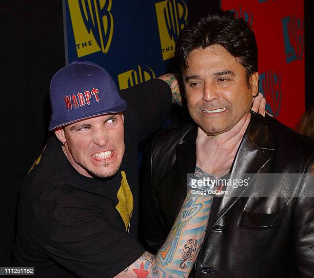 Rob Vanilla Ice Van Winkle and Erik Estrada during The WB Network's 2004 All Star Party at Hollywood Highland in Hollywood California United States