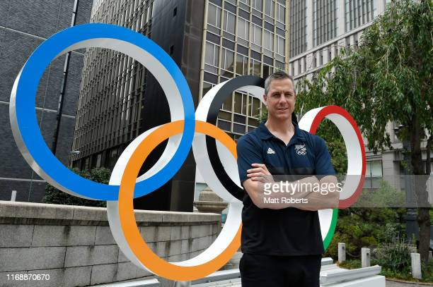 Rob Waddell poses during a portait session in Nihonbashi on August 19 2019 in Tokyo Japan