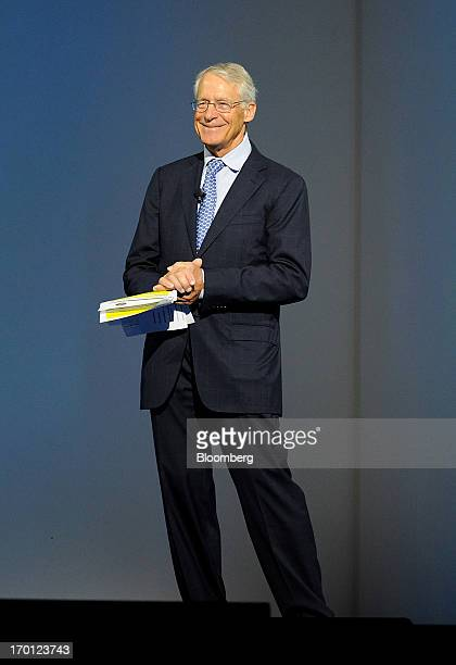 Rob Walton chairman of WalMart Stores Inc speaks during the company's annual shareholders meeting in Fayetteville Arkansas US on Friday June 7 2013...
