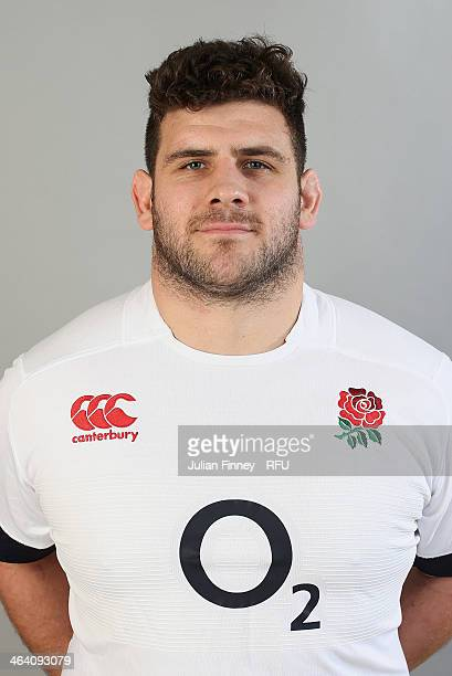 Rob Webber of England poses for a portrait during the England Six Nations Squad Photo Call at the Penny Hill Hotel on January 20 2014 in Bagshot...