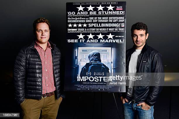 Rob Williams and director Bart Layton attend TheWrap's Awards Season Screening Series of The Imposter at The Landmark Theater on December 13 2012 in...