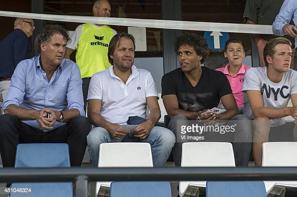 Rob Witschge Pierre van Hooijdonk during the preseason friendly match between FC Utrecht and Dundee United on July 16 2015 in Woerden The Netherlands