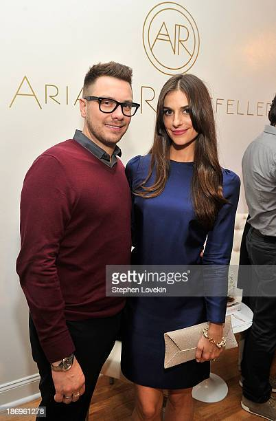 Rob Younkers and designer Ariana Rockefeller attend the private reception celebrating the opening of the Ariana Rockefeller Popup Shop on November 4...